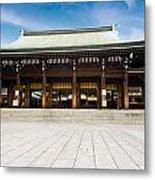 Zen Temple Under Blue Sky  Metal Print