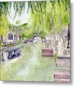 Zhou Zhuang Watertown Suchou China 2006 Metal Print