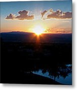 Zia Sun Over Tanoan Metal Print