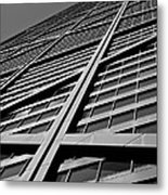 Zig-zagging To The Top Metal Print