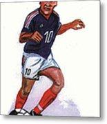 Zinedine Zidane 01 Metal Print