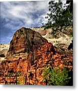 Zion As Water Color Metal Print
