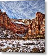 Zion Canyon In Utah Metal Print