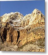 Zion Cliffs Metal Print
