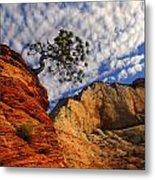 Zion Lone Tree Metal Print