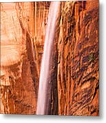 Zion Waterfall Metal Print