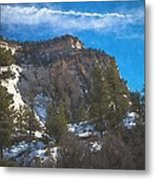 Zion Winter Moment Metal Print