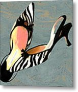 Zippy Zebra Slings Metal Print