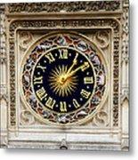 Zodiac Clock Metal Print