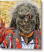 Zombie With A Heart Metal Print