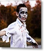 Zombiefied Metal Print