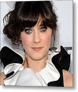 Zooey Deschanel At Arrivals For Our Metal Print