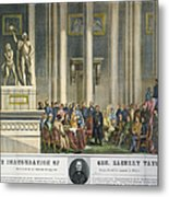 Z.taylor: Inauguration Metal Print by Granger