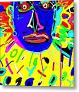 Zulu Yellow- Turquoise Metal Print