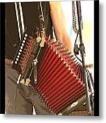 Zydeco Red Accordian Metal Print