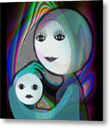 044 - Full Moon  Mother And Child   Metal Print