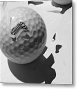 A Golf Ball On Holiday Metal Print
