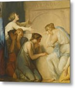 A Group Of Female Mourners At The Tomb Of Achilles Metal Print