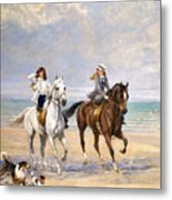 A Ride By The Sea Metal Print