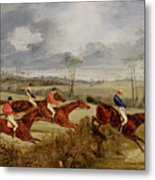 A Steeplechase - Near The Finish Metal Print