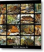 ' Australia Rocks ' - The Dripping Gorge - New South Wales Metal Print