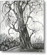 Autumn Dancing Tree Metal Print