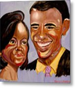 Barak And Michelle Obama   The Power Of Love Metal Print