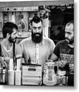 Three Barmen Metal Print