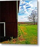 Barn Corner Metal Print