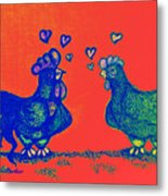 Be  My   Valentine In Red Metal Print