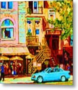 Beautiful Cafe Soleil Metal Print