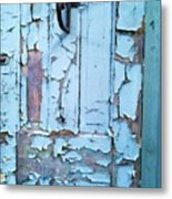 Blue Door In The Old South Metal Print by Shawn Hughes