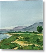 Bluffs Facing Venoco Metal Print