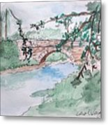 Bridge At Bellevue Gate Lodge Co. Wexford Metal Print