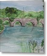 Bridge  In Bunclody, Ireland Metal Print