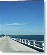 Bridge Over The Sea Metal Print