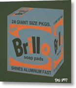 Brillo Box Colored 16 - Warhol Inspired Metal Print