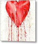 Broken Heart - Bleeding Heart Metal Print