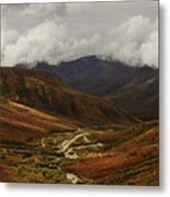 Brooks Range, Dalton Highway And The Trans Alaska Pipeline  Metal Print