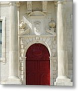 Burgundy Door Metal Print