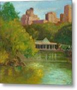 Central Park New York Boathouse Metal Print