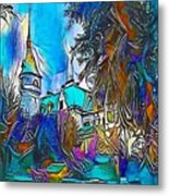 Church Blue - My Www Vikinek-art.com Metal Print