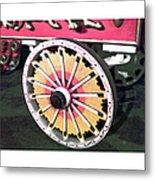 Circus Wagon Wheel Metal Print