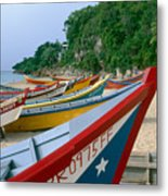 Colorful  Fishing Boats On Crashboat Beach Metal Print