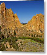 Crooked River At Smith Rock State Park Oregon  Metal Print