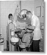 Dentist Working Patient October 18 1962 Black Metal Print