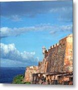 El Morro Fortress Rainbow Metal Print