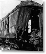 Exploded Train Car Robbery October 1923 Black Metal Print