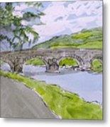 Ferry House Bridge Metal Print