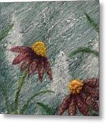 Flowers In The Breeze Metal Print
